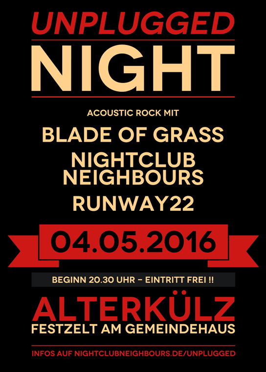 UNPLUGGED NIGHT am 04.05.2016 in Alterkülz
